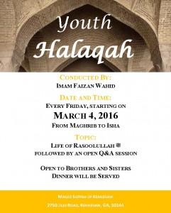 youth halaqah flyer